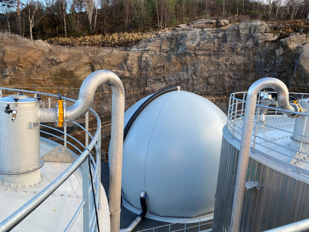 Biogass membran tank